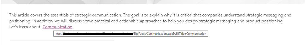 SharePoint hyperlink
